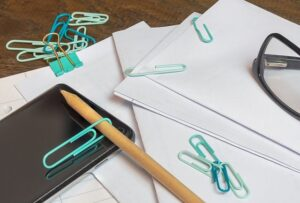 paper, office, desk