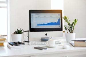 laptop, wykres